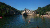 Cascades de Sautadet - baignade